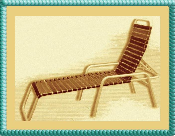 Outdoor Vinyl Strap Lounge Furniture